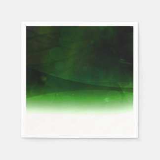 White And Green Abstract Backdrop Paper Napkin