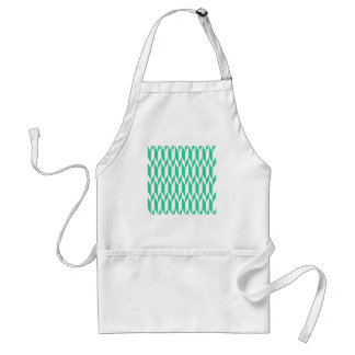 White and Green Abstract Graphic Pattern. Apron