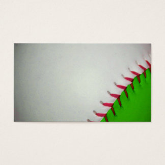 White and Green Baseball Business Card