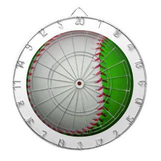 White and Green Baseball Dart Board