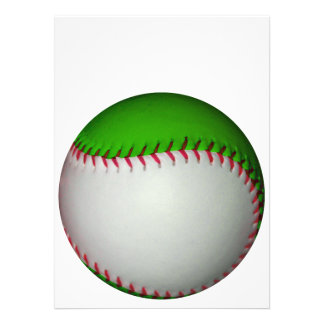 White and Green Baseball Personalized Invites