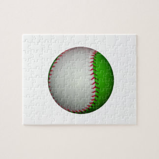 White and Green Baseball Puzzle