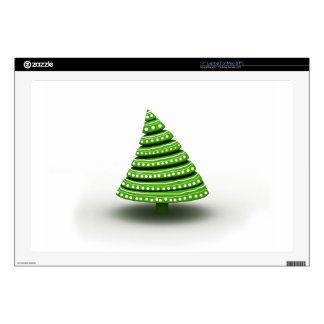 White And Green Color Christmas Tree Laptop Decals