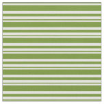 [ Thumbnail: White and Green Colored Striped Pattern Fabric ]