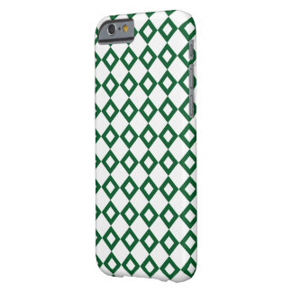White and Green Diamond Pattern Barely There iPhone 6 Case