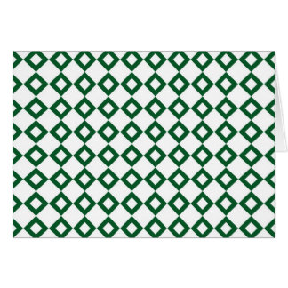 White and Green Diamond Pattern Card