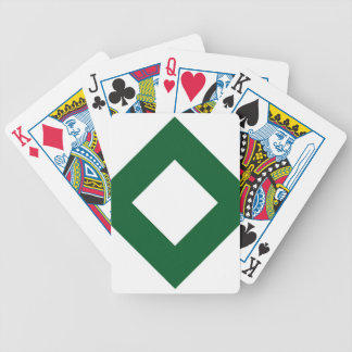 White and Green Diamond Pattern Deck Of Cards