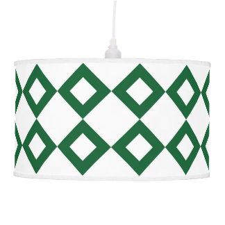 White and Green Diamond Pattern Pendant Lamp