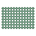 White and Green Diamond Pattern