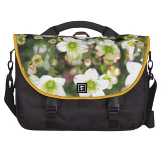 White and green flowers products laptop bag