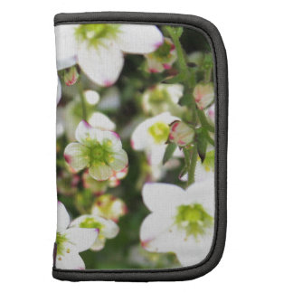 White and green flowers products planner