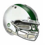 White and Green Football Helmet Ornament