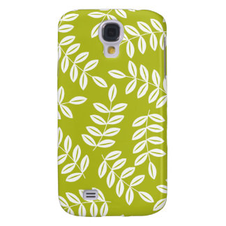 White and Green Leaves IPhone 3G Case