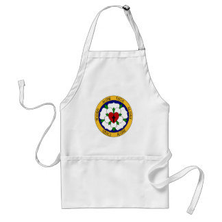 White And Green Luther Rose Aprons