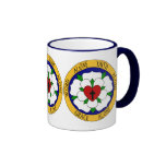 White And Green Luther Rose Ringer Coffee Mug