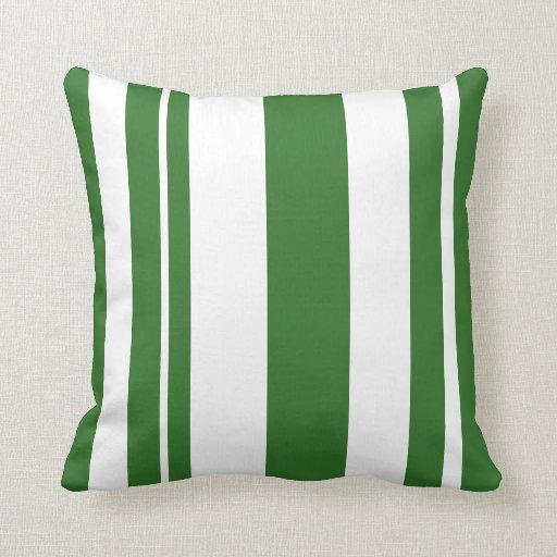 White and green striped throw pillow zazzle for Green and white throw pillows