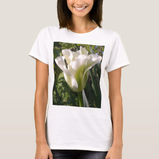 White and Green Tulip T-shirt
