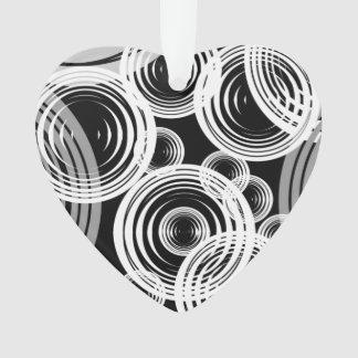 White and grey bubbles ornament