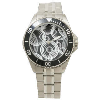 White and grey bubbles wrist watches