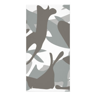 White and Grey Camouflage II Card