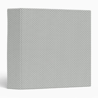 White and Grey Carbon Fiber Graphite 3 Ring Binder