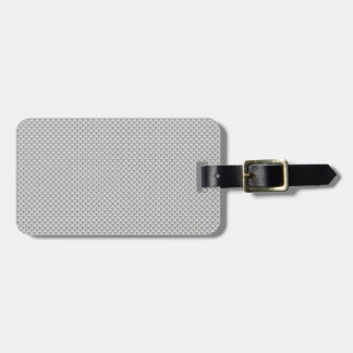 White and Grey Carbon Fiber Graphite Bag Tag