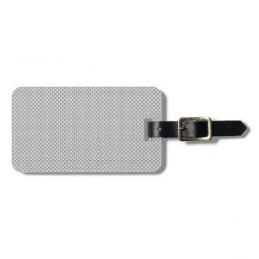 Halloween Themed White and Grey Carbon Fiber Graphite Bag Tag