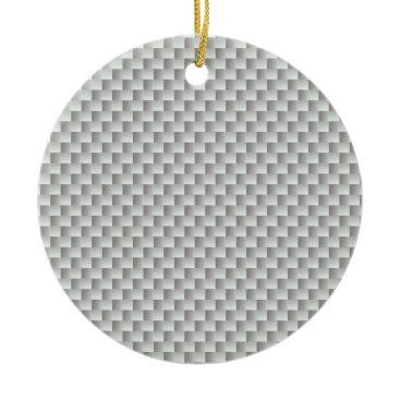 astroskins White and Grey Carbon Fiber Graphite Ceramic Ornament