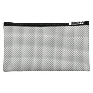 Halloween Themed White and Grey Carbon Fiber Graphite Cosmetic Bag