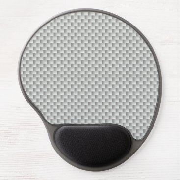 Halloween Themed White and Grey Carbon Fiber Graphite Gel Mouse Pad