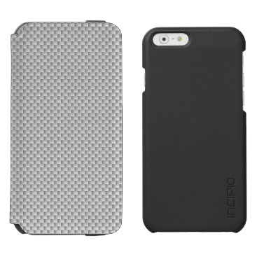 Halloween Themed White and Grey Carbon Fiber Graphite iPhone 6/6s Wallet Case