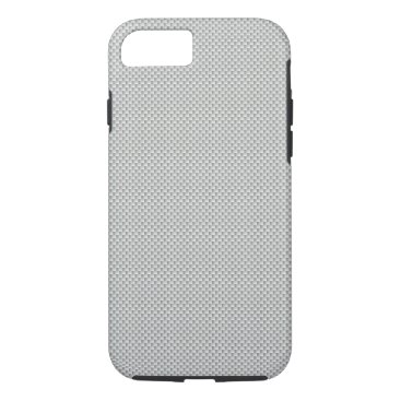 Beach Themed White and Grey Carbon Fiber Graphite iPhone 7 Case