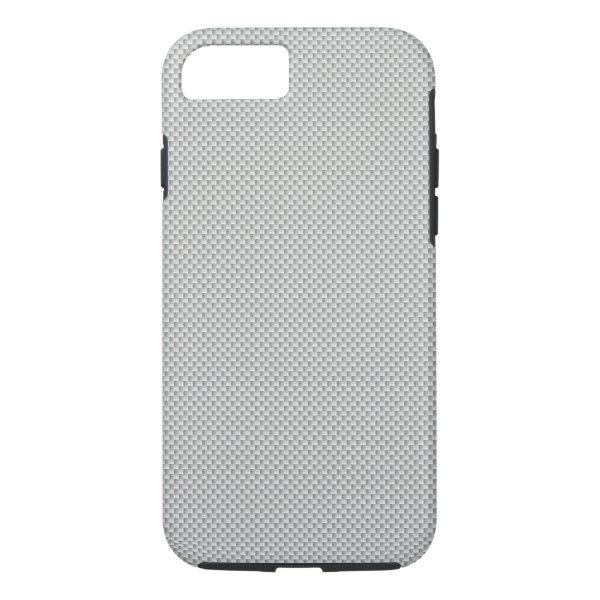 White and Grey Carbon Fiber Graphite iPhone 7 Case
