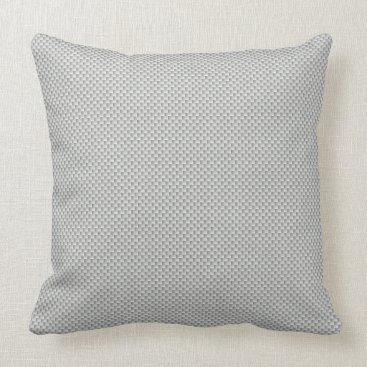 Beach Themed White and Grey Carbon Fiber Graphite Throw Pillow