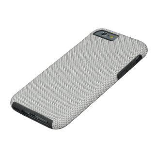 White and Grey Carbon Fiber Graphite Tough iPhone 6 Case