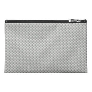 White and Grey Carbon Fiber Graphite Travel Accessories Bag