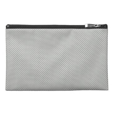 Beach Themed White and Grey Carbon Fiber Graphite Travel Accessories Bag