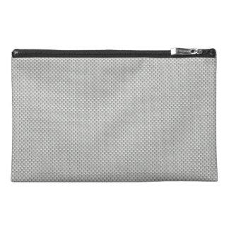 White and Grey Carbon Fiber Graphite Travel Accessory Bag