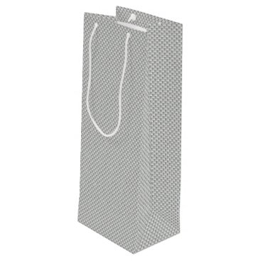 Beach Themed White and Grey Carbon Fiber Graphite Wine Gift Bag