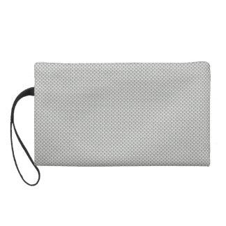 White and Grey Carbon Fiber Graphite Wristlet Purse