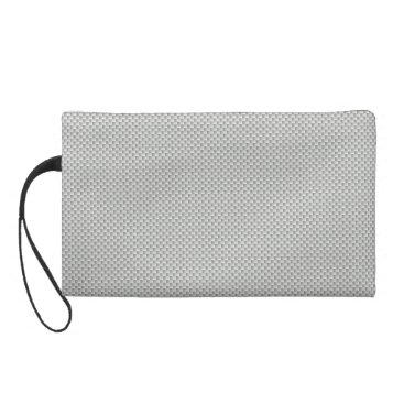 Beach Themed White and Grey Carbon Fiber Graphite Wristlet Purse