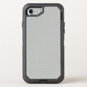 Christmas Themed White and Grey Carbon Fiber Polymer OtterBox Defender iPhone 7 Case