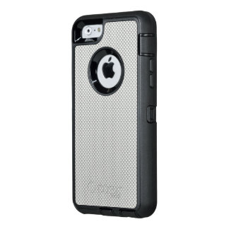 White and Grey Carbon Fiber Polymer OtterBox Defender iPhone Case
