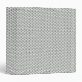White and Grey Kevlar Carbon Fiber 3 Ring Binder