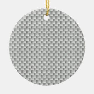 White and Grey Kevlar Carbon Fiber Christmas Ornaments