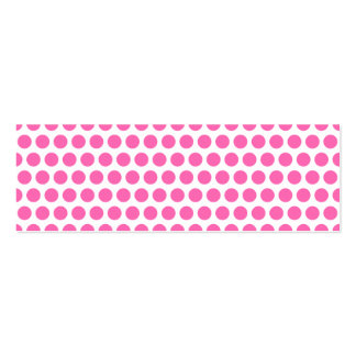 White and Hot Pink Polka Dots Double-Sided Mini Business Cards (Pack Of 20)