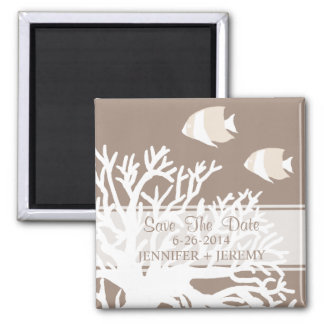 White and Ivory Tropical Angel Fish Magnet