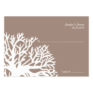 White and Ivory Tropical Fish Seating Card