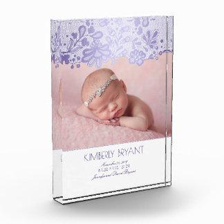White and Lavender Lace Elegant Sweet Photo Award