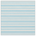 [ Thumbnail: White and Light Blue Colored Lined Pattern Fabric ]